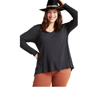 Anthropologie T.La Vicky Thermal Waffle Tunic M